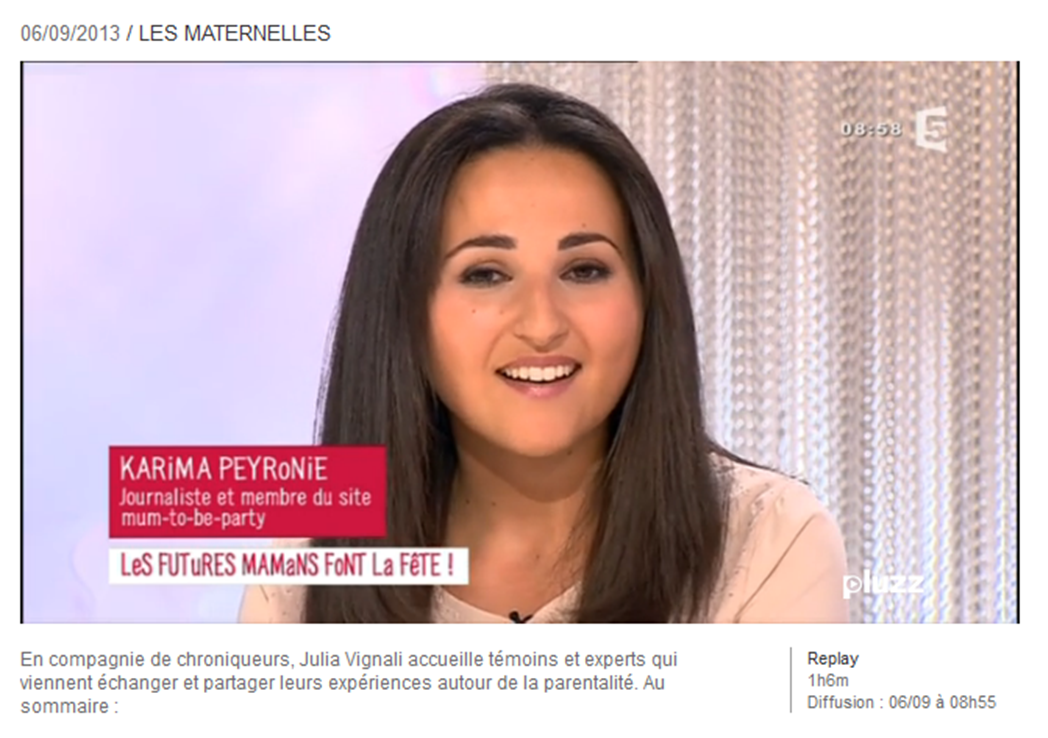 Les-Maternelles-emission-6-septembre-2013-Mum-to-be-Party