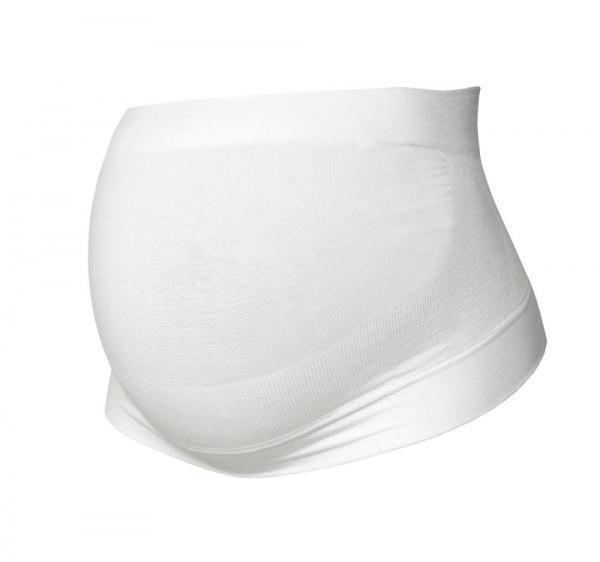 Ceinture de maintien grossesse coton bio blanche