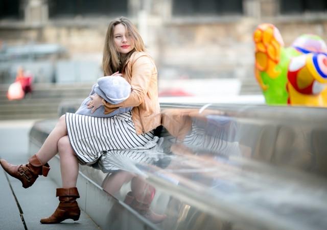Shooting mode #1 : la robe marinière de grossesse et d'allaitement