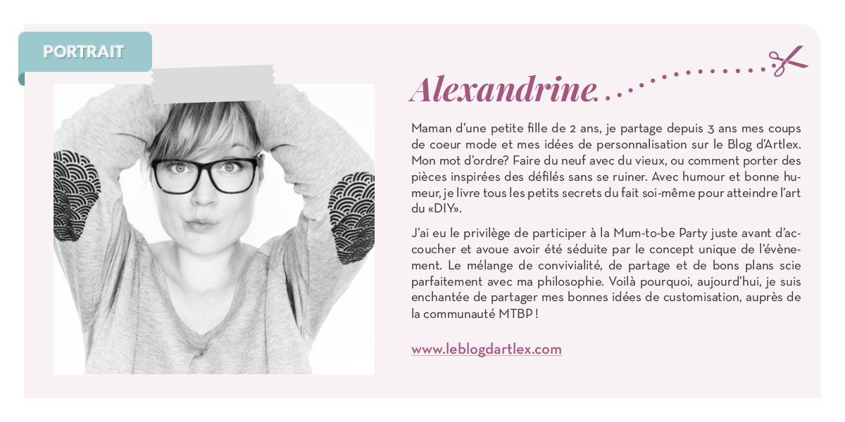 PORTRAIT BLOGGEUSE DIY alexandrine