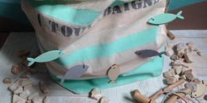 """Tuto DIY : le pochon """"Bord de Mer"""" pour la plage avec bébé"""