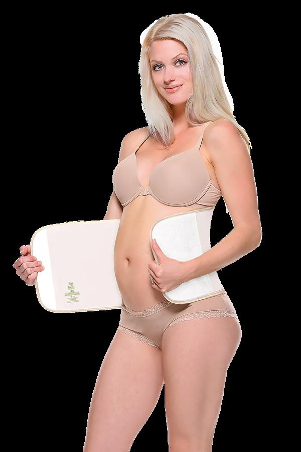 Ceinture abdominale post accouchement Bambou Nude -3751