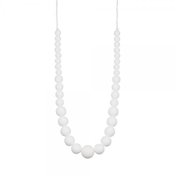 Collier d'allaitement chic perles blanches -0