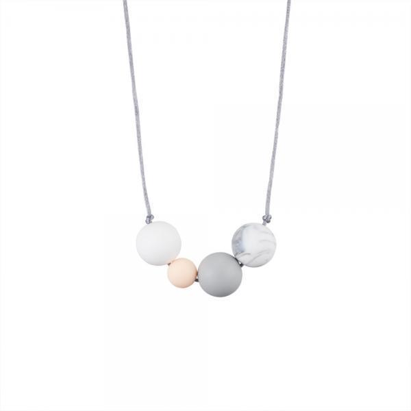 Collier d'allaitement 4 grandes perles -0
