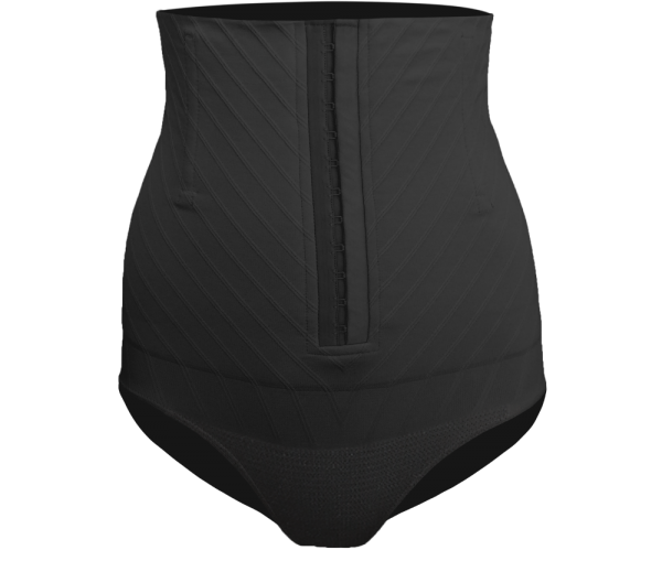 Culotte haute gainante post césarienne C-Section noire-0