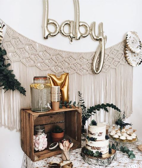 baby-shower-gold-vert-boheme-pogoartistique