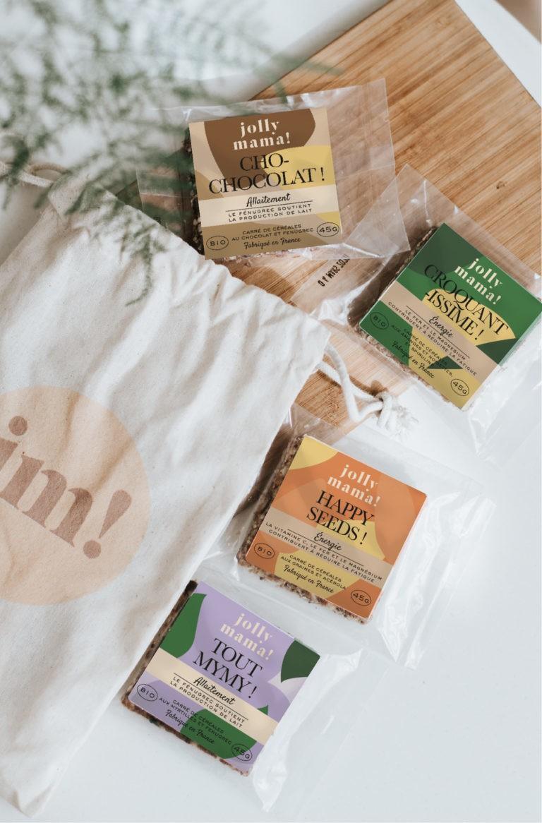 Assortiment de 8 snacks bio pour jeunes mamans