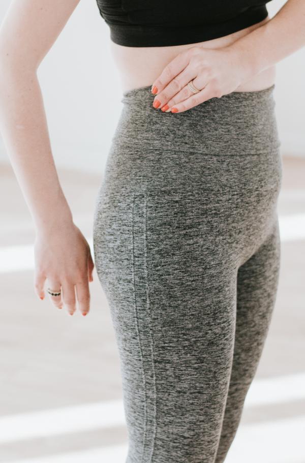 Legging gainant post grossesse Mother Tucker Gris Chiné-5688
